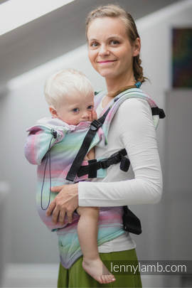 Nosidełko Ergonomiczne , splot jodełkowy, 100% bawełna , Toddler Size, MAŁA JODEŁKA IMPRESJA- Druga Generacja