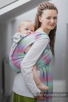WRAP-TAI carrier Toddler with hood/ herringbone twill / 100% cotton / LITTLE HERRINGBONE IMPRESSION