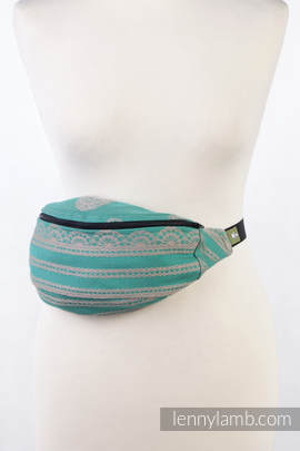 Waist Bag made of woven fabric, (100% cotton) - PISTACHIO LACE