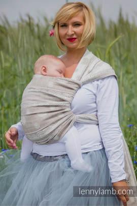 Baby Wrap, Jacquard Weave (60% cotton, 28% linen 12% tussah silk) - PORCELAIN LACE - size XS