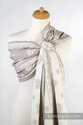 Ringsling, Jacquard Weave, with gathered shoulder(60% cotton 28% linen 12% tussah silk) - PORCELAIN LACE