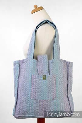 Torba na ramię z materiału chustowego, (100% bawełna) - LITTLE LOVE - ZEFIR - uniwersalny rozmiar 37cmx37cm