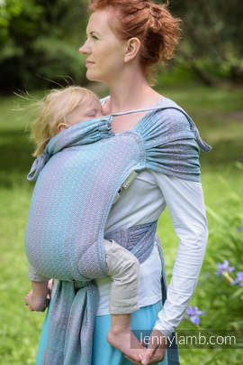 WRAP-TAI carrier Toddler with hood/ jacquard twill / 100% cotton / LITTLE LOVE - ZEPHYR