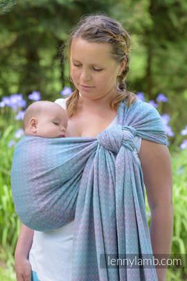 Baby Wrap, Jacquard Weave (100% cotton) - LITTLE LOVE - ZEPHYR - size XL