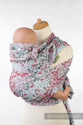 WRAP-TAI carrier Mini with hood/ jacquard twill / 100% cotton / COLORS OF FRENDSHIP