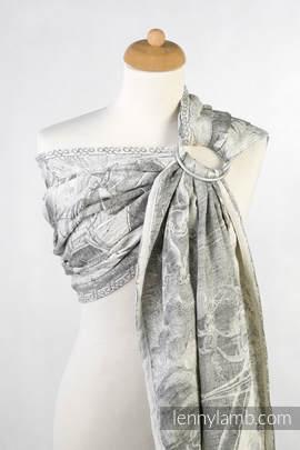 Ringsling, Jacquard Weave (60% cotton, 40% linen) - LINEN GALLEONS BLACK & CREAM