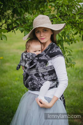 WRAP-TAI carrier Toddler with hood/ jacquard twill / 60% cotton 40% linen / LINEN TIME (without skull)