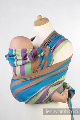 WRAP-TAI carrier Mini, broken-twill weave - 100% cotton - with hood, ZUMBA BLUE