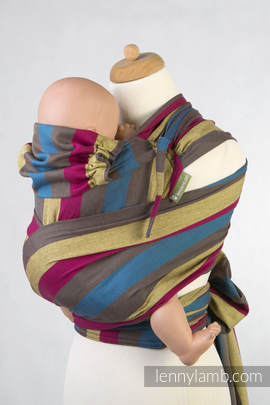 WRAP-TAI carrier TODDLER, broken-twill weave - 100% cotton - with hood, FOREST MEADOW