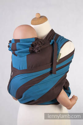 WRAP-TAI carrier TODDLER, broken-twill weave - 100% cotton - with hood, FOREST DEW