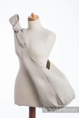 Hobo Bag made of woven fabric, 60% cotton, 40% linen- LITTLE HERRINGBONE NATURE