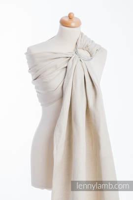 Ringsling, Jacquard Weave (60% cotton, 40% linen) - LITTLE HERRINGBONE NATURE (grade B)