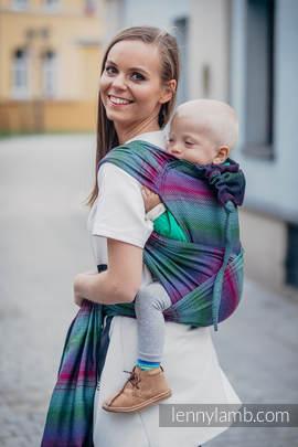 WRAP-TAI carrier Toddler with hood/ herringbone twill / 100% cotton / LITTLE HERRINGBONE IMPRESSION DARK