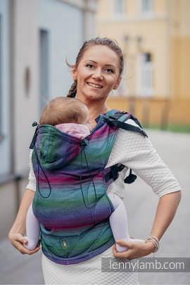 Nosidełko Ergonomiczne , splot jodełkowy, 100% bawełna , Toddler Size, MAŁA JODEŁKA IMPRESJA DARK - Druga Generacja