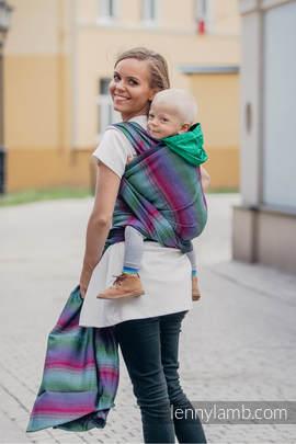 Baby Wrap, Herringbone Weave (100% cotton) - LITTLE HERRINGBONE IMPRESSION DARK - size XL