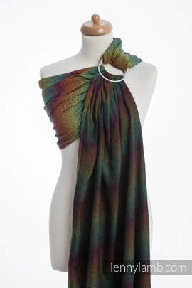Ringsling, Herringbone Weave (100% cotton) - with gathered shoulder - LITTLE HERRINGBONE IMAGINATION DARK (grade B)