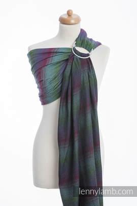 Ringsling, Herringbone Weave (100% cotton) - with gathered shoulder - LITTLE HERRINGBONE IMPRESSION DARK
