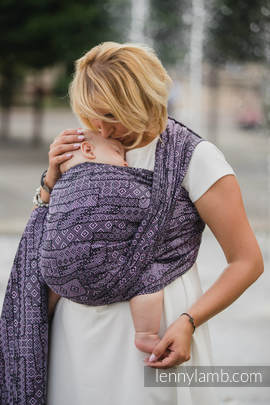 Baby Wrap, Jacquard Weave (100% cotton) - ENIGMA PURPLE - size S (grade B)