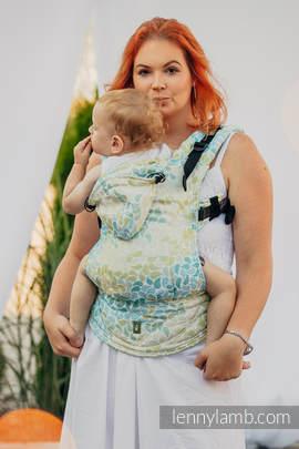 Nosidełko Ergonomiczne z tkaniny żakardowej 100% bawełna , Toddler Size, LEMONIADA - Druga Generacja