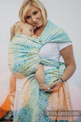 Baby Wrap, Jacquard Weave (100% cotton) - LEMONADE  - size XS (grade B)