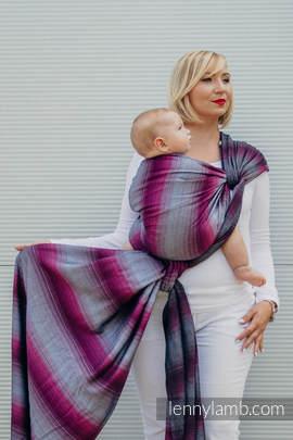 Baby Wrap, Herringbone Weave (100% cotton) - LITTLE HERRINGBONE INSPIRATION - size L