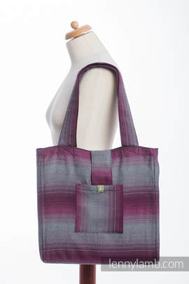 Shoulder bag made of wrap fabric (100% cotton) - LITTLE HERRINGBONE INSPIRATION - standard size 37cmx37cm