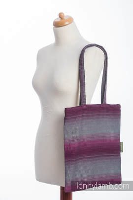 Shopping bag made of wrap fabric (100% cotton) - LITTLE HERRINGBONE INSPIRATION