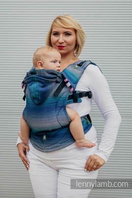 Nosidełko Ergonomiczne , splot jodełkowy, 100% bawełna , Baby Size, MAŁA JODEŁKA ILUZJA - Druga Generacja