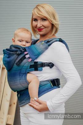 Nosidełko Ergonomiczne , splot jodełkowy, 100% bawełna , Toddler Size, MAŁA JODEŁKA ILUZJA- Druga Generacja