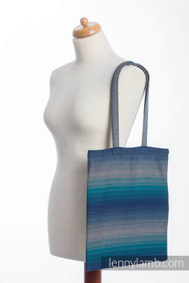 Shopping bag made of wrap fabric (100% cotton) - LITTLE HERRINGBONE ILLUSION
