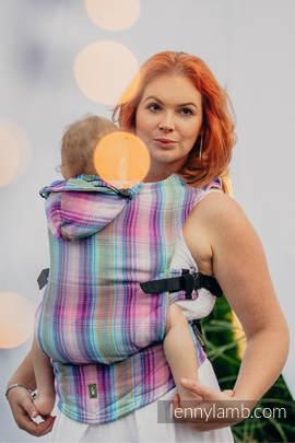 Nosidełko Ergonomiczne , splot jodełkowy, 100% bawełna , Baby Size, MAŁA JODEŁKA TAMONEA - Druga Generacja