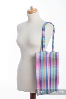Shopping bag made of wrap fabric (100% cotton) - LITTLE HERRINGBONE TAMONEA