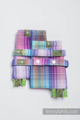 Drool Pads & Reach Straps Set, (100% cotton) - LITTLE HERRINGBONE TAMONEA