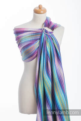 Ringsling, Herringbone Weave (100% cotton) - with gathered shoulder - LITTLE HERRINGBONE TAMONEA