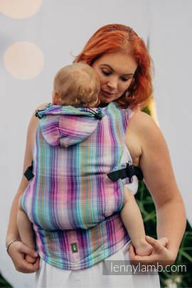 Nosidełko Ergonomiczne , splot jodełkowy, 100% bawełna , Toddler Size, MAŁA JODEŁKA TAMONEA - Druga Generacja