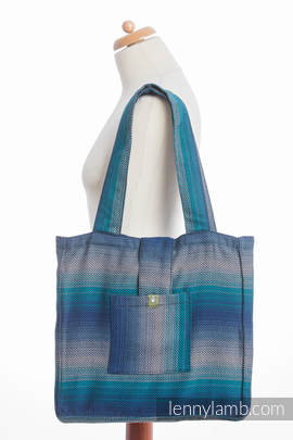 Shoulder bag made of wrap fabric (100% cotton) - LITTLE HERRINGBONE ILLUSION - standard size 37cmx37cm