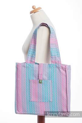 Torba na ramię z materiału chustowego, (100% bawełna) - LITTLE LOVE - BRZASK - uniwersalny rozmiar 37cmx37cm