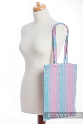 Shopping bag made of wrap fabric (100% cotton) - LITTLE LOVE - DAYBREAK