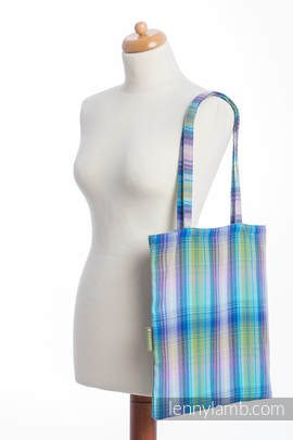 Einkaufstasche, hergestellt aus gewebtem Stoff (100% Baumwolle) - LITTLE HERRINGBONE PETREA