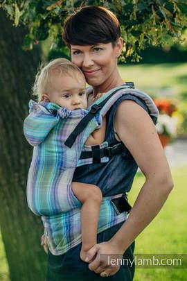 Nosidełko Ergonomiczne , splot jodełkowy, 100% bawełna , Baby Size, MAŁA JODEŁKA PETREA - Druga Generacja