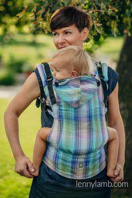 Ergonomische Tragehilfe, Größe Toddler, Fischgrätmuster, 100% Baumwolle - LITTLE HERRINGBONE PETREA - Zweite Generation
