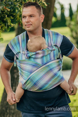 WRAP-TAI carrier Mini with hood/ herringbone twill / 100% cotton / LITTLE HERRINGBONE PETREA