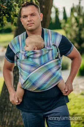 WRAP-TAI Tragehilfe Toddler mit Kapuze/ Fischgrätmuster / 100% Baumwolle / LITTLE HERRINGBONE PETREA
