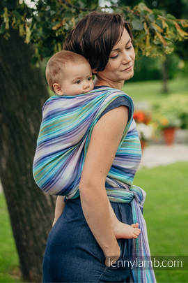 Baby Wrap, Herringbone Weave (100% cotton) - LITTLE HERRINGBONE PETREA - size XS