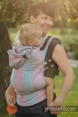 Nosidełko Ergonomiczne z tkaniny żakardowej 100% bawełna , Baby Size, LITTLE LOVE - BRZASK, Druga Generacja