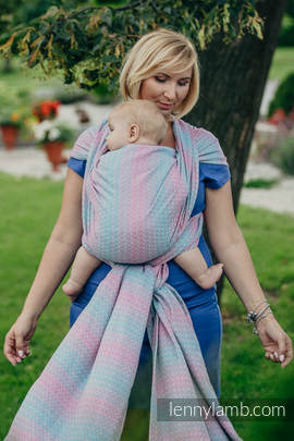 Baby Wrap, Jacquard Weave (100% cotton) - LITTLE LOVE - DAYBREAK- size XL