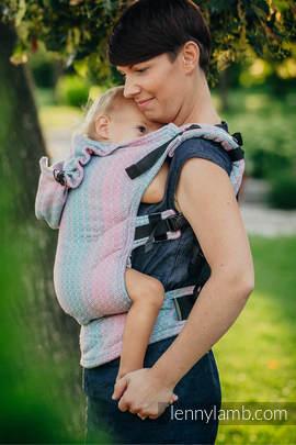 Nosidełko Ergonomiczne z tkaniny żakardowej 100% bawełna , Toddler Size, LITTLE LOVE - BRZASK, Druga Generacja