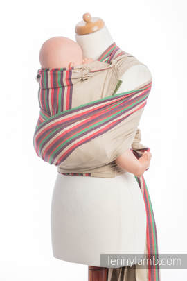 WRAP-TAI carrier Mini, broken-twill weave - 100% cotton - with hood, SAND VALLEY