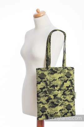 Shopping bag made of wrap fabric (100% cotton) - GREEN CAMO