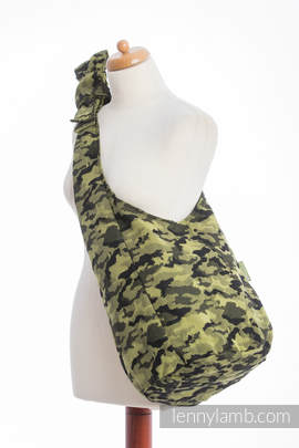 Hobo Bag made of woven fabric (100% cotton) - GREEN CAMO